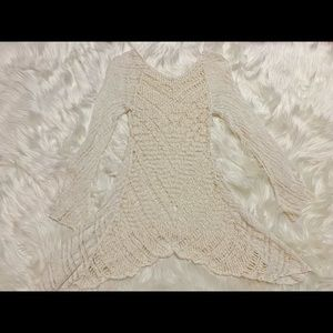 FREE PEOPLE Ivory Crochet sweater
